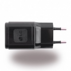 LG, MCS-04ER, Mains Charger / Travel Charger, USB, Black