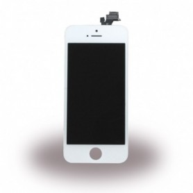 Apple iPhone 5, Spare Part, Complete LCD Display Module incl. Light Sensor + Front Camera, White, CY116663