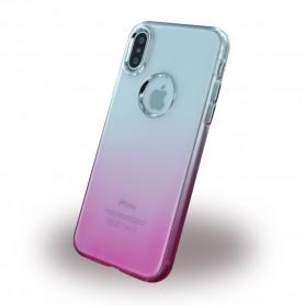 Capa em Silicone Ruber Soft Apple iPhone X, Rosa