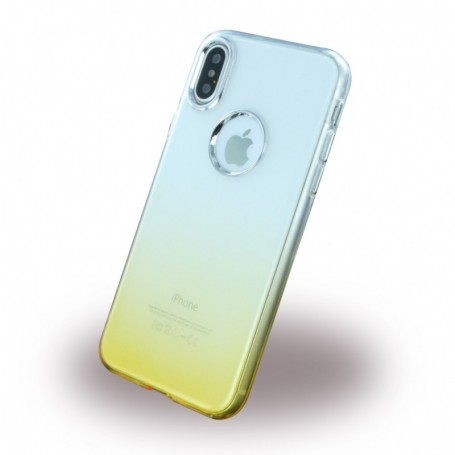 Ruber Soft, Silicone Cover, Apple iPhone X, Gold, CY119430