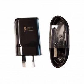 Carregador Samsung AU 2 pinos 2A, Preto, Original, EP-TA20HBE