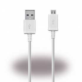 Samsung, ECB-DU4EWE, Data and Charging Cable, MicroUSB, 1.5m, White, GH39-01801B