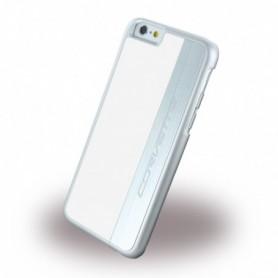 Corvette COHCP6MEWH Silver Brushed Aluminium Hardcover / Hard Case Apple iPhone 6, 6s White