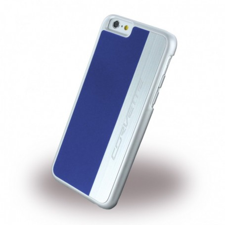 Corvette COHCP6MELB Silver Brushed Aluminium Hardcover / Hard Case Apple iPhone 6, 6s Blue