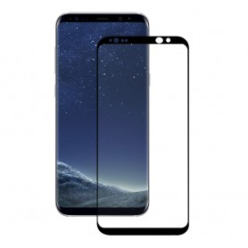 Eiger 3D GLASS Full Screen Tempered Glass Screen Protector for Samsung Galaxy S8 Plus in Clear / Black, EGSP00115