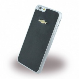 Chevrolet CHHCP6LMIBL Emblem Mirror Effect Leatherette Hardcover / Hard Case Apple iPhone 6 Plus, 6s Plus Black