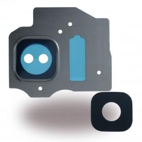 Spare Part, Rear Camera Lens + Holder Frame, Samsung G950F Galaxy S8, G955F Galaxy S8 Plus, Arctic Silver, CY119673
