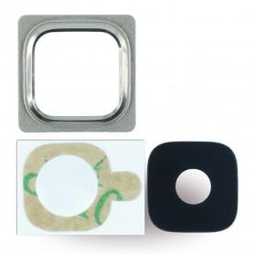 Spare Part, Rear Camera Lens + Holder Frame, Samsung G800F Galaxy S5 Mini, Gold, CY119682