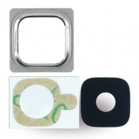 Spare Part, Rear Camera Lens + Holder Frame, Samsung G800F Galaxy S5 Mini, Blue, CY119683
