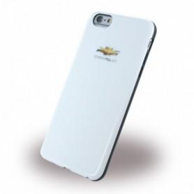 Capa em Silicone Chevrolet, CHHCP6LCOWH, Capa em TPU /, Apple iPhone 6 Plus, 6s Plus, Shiny White