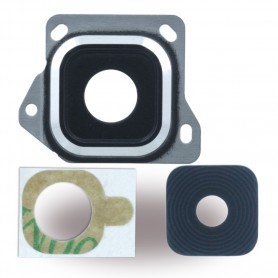 Spare Part, Rear Camera Lens + Holder Frame, Samsung A300F Galaxy A3 (2015), Black, CY119684