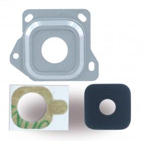 Spare Part, Rear Camera Lens + Holder Frame, Samsung A300F Galaxy A3 (2015), Silver, CY119685