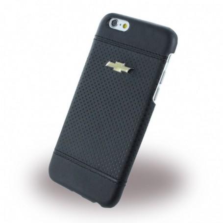 Chevrolet, CHHCP6LDEBL, Debossed Dots, Leatherette Hardcover / Hard Case, Apple iPhone 6 Plus, 6s Plus, Black