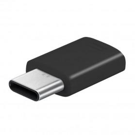 Adaptador Samsung, GH98-41290A / GH98-11381A / GH96-12330A MicroUSB para USB Tipo C, Preto, Original, GH98-41290A / 11381A