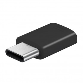 Samsung Adapter GH98-41290A / GH98-11381A / GH96-12330A MicroUSB to USB Type C Black, GH98-41290A / 11381A