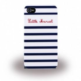 Capa Rígida Little Marcel, Marin, Apple iPhone 6, 6s, Azul e Branco, LMIP6005
