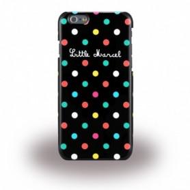 Capa Rígida Little Marcel, Noir Pois, Apple iPhone 6, 6s, Preto, LMIP6013