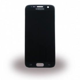 Samsung G930F Galaxy S7, LCD Display / Touch Screen, Black, GH97-18523A