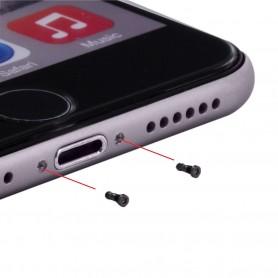 Parafusos da Capa Cyoo 10 unidades Apple iPhone 7, 7 Plus, Preto, CY120006