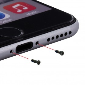 Parafusos da Capa Cyoo, 10 unidades, Apple iPhone 6, 6s, Preto, CY120015