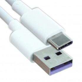 Cabo de Dados Huawei AP71 / HL-1289 Quick USB Tipo-C, Branco, Original, 4071497