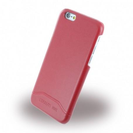 Capa Rígida Cerruti 1881 CEHCP6SLRE Smooth Split Leatherette Apple iPhone 6, 6s, Vermelho