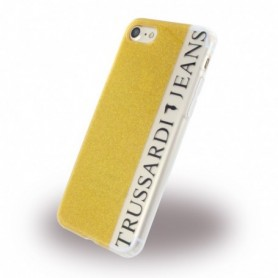 Trussardi TRU7GLITTERG Glitter Silicone Skin Apple iPhone 7, 8 Gold