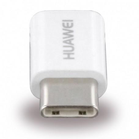 Adaptador Huawei AP52 MicroUSB para USB Tipo C, Branco, Original, 4071259
