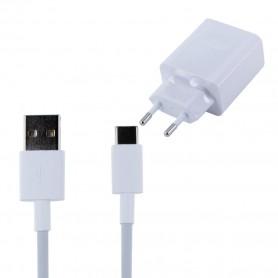 Huawei AP81 Carregador Rápido + Cabo de Dados USB Tipo C, Branco, Original, 2452310