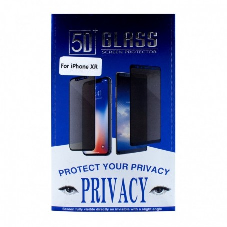 Protetor de Ecrã Cyoo Apple iPhone XR Privacy 5D Vidro, Preto