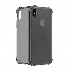 Cyoo Four Coners Silicone Cover / Case Apple iPhone XS Max Transparent / Black