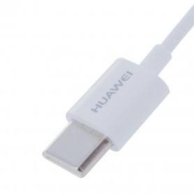 Adaptador Huawei AM20 / CM20 USB Tipo-C para 3.5mm Jack, Branco, Original, 55030086