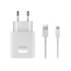 Huawei, AP32, Quick Charger + Data Cable USB Type C, White, 2452156