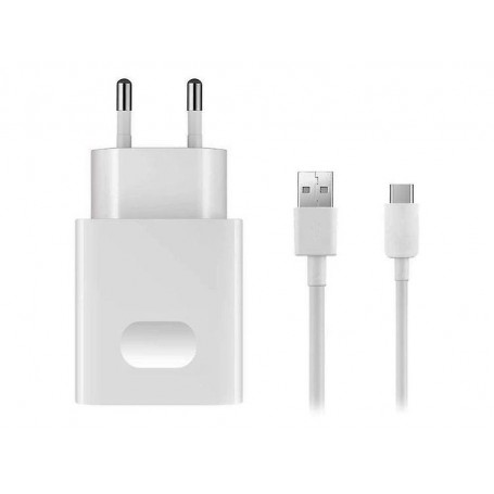 Huawei, AP32, Carregador Rápido + Cabo de Dados USB Tipo C, Branco, Original, 2452156