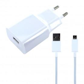 Xiaomi, MDY-08-EO, Carregador USB + Cabo USB para MicroUSB, Branco, Original