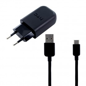 HTC, TC P5000, Fast Charger, DC-M700, Data Cable USB Type C, Black
