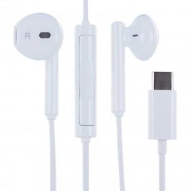Auscultadores Huawei, AM33 / CM33 USB Tipo C, Branco, Original, 55030088