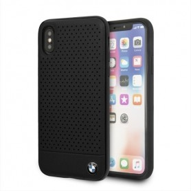 Capa BMW Couro TPU / PC Apple iPhone XS Max, Preto, BMHCI65PEBOBK