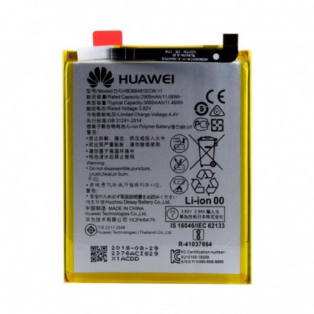 Huawei, HB366481ECW, Lithium-Ion Batterys, P8 Lite 2017, P9 Lite, P10 Lite, P20 Lite, 3000mAh