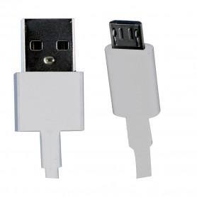 Cabo MicroUSB Xiaomi, 1m, Branco, Original