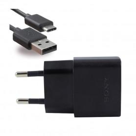 Sony, UCH20, Carregador USB + Cabo UCB20 / 30 USB Tipo C, Preto, Original