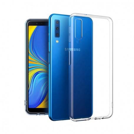 Cyoo Silicone Case Samsung A750F Galaxy A7 (2018) Ultra slim Cover Transparent, CY120553