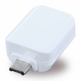 Adaptador Samsung EE-UG930 MicroUSB para USB OTG, Branco, Original
