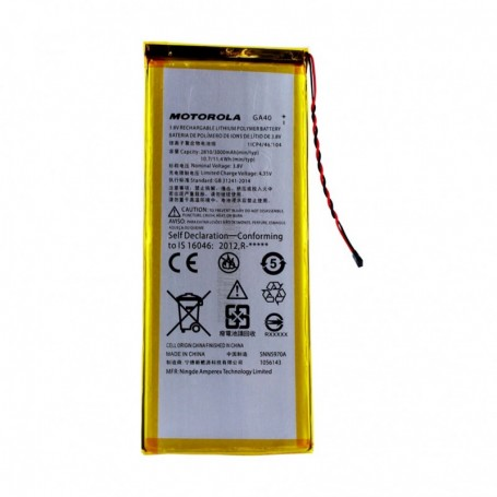 Bateria Motorola GA40 Moto G4 / G4 Plus / XT1625 / XT1622 Li-Ion-Poly 3000mAh, Original, SNN5970A