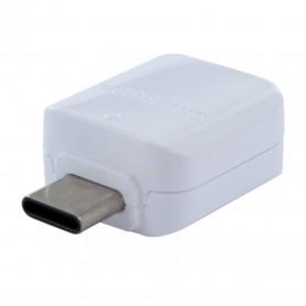 Adaptador Samsung, GH96-12489A, OTG USB Tipo C para USB, Branco, Original, GH98-40216A