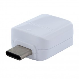 Samsung, GH96-12489A, OTG Adapter / Connector USB Type C to USB, White, GH98-40216A