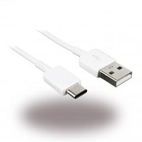 Cabo de Dados Samsung, EP-DR140AWE, USB para USB Tipo C, 0.8m, Branco, Original, GH39-01999A