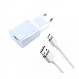 Xiaomi, MDY-08-EO, Carregador USB + Cabo USB para Tipo C, Branco, Original