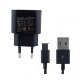 Nokia FC0100 USB-Carregador Rápido 2A + Tipo C, Preto, Original