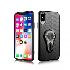 Capa Cyoo, 360 Rotation Air Vent Suporte iPhone Xs Max, Cinzento, CY121003